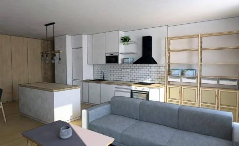 Ponúkame na predaj nový 3 izbový byt s balkónom v projekte Jarabinky